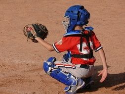 baseball playing child on a field