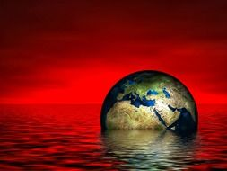 earth globe water wave sea lake N3