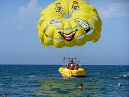 parasailing in the resort area