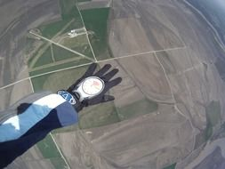skydiving hand