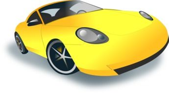 painted yellow sports car