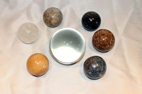 A variety of stone balls
