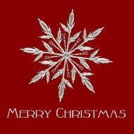 Clipart of ice crystal and merry Christmas sign