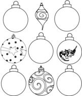 christmas ball ornaments drawing