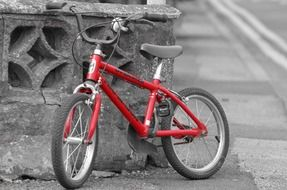 Parked Red bike