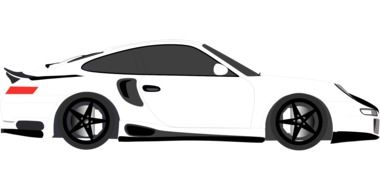 graphic image of a white racing car