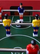 football ball and players figures
