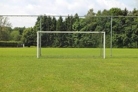 Football goal on a field