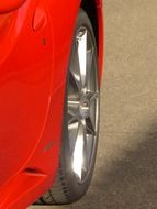 red ferrari wheel