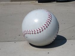 isolated white baseball ball