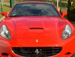 red sport car ferrari