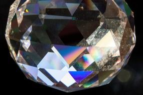 geometric decorative prism ball