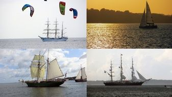 collage sailing