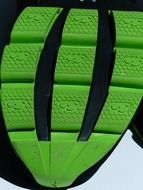 sole green rubber grip friction
