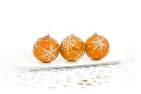 orange balls christmas decoration