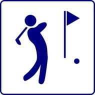 golf course player sign drawing