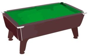 green pool table as a graphic representation
