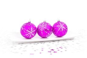 pink balls for christmas decoration