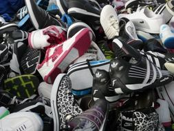 picture of the lots of sneakers on a sale
