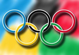 graphic image of the Olympic symbols