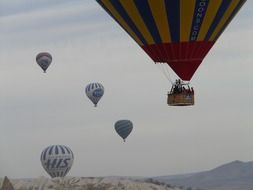 flying a balloon over turkey