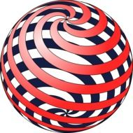 red spiral sphere