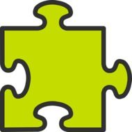 yellow puzzle piece