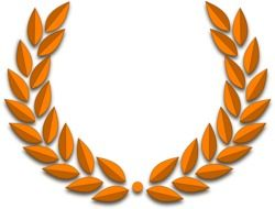 golden laurel wreath as a graphic image
