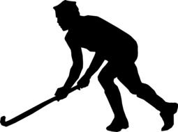Hockey player silhouette clipart