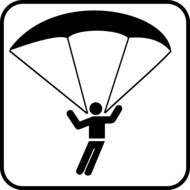 drawing skydiver