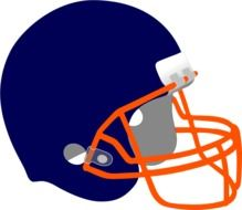 helmet protection football drawing