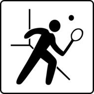 tennis as a pictogram