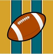 ball against the background of the flag of the football team in Jacksonville