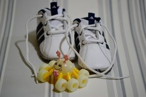 baby shoes and toy