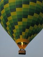 green checkered air balloon