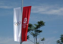 olympics banners flag