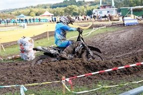 motocross in the mud