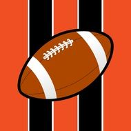ball on colors of bengals professional American football franchis, usa, ohio, cincinnati