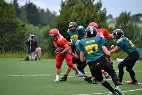 american football team placement