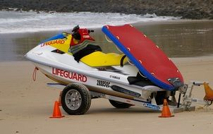 rescue jetski on the beach