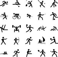 pictograms sports icons drawing
