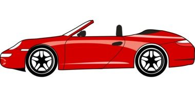 Red Ferrari car clipart