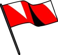 red signal flag drawing