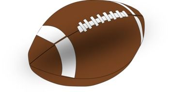 clipart of the american football ball