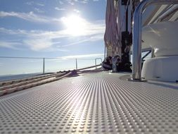 deck of a sailing ship in the adriatic sea