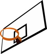 backboard rim basketball