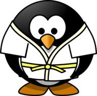 judo penguin cartoon drawing