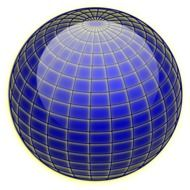coordinate lines on the ball
