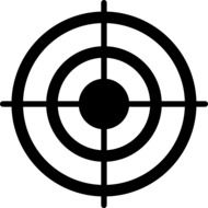 black and white shooting target