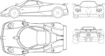 schematic image of a sports car ferrari